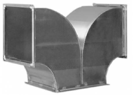 Тройник (тетка) за правоъгълен въздуховод